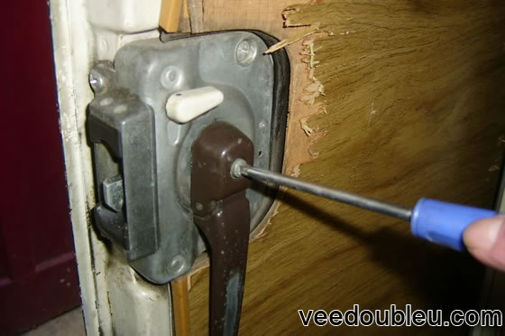 Removing the sliding door lock