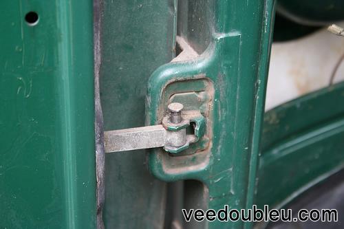 Door pin half out