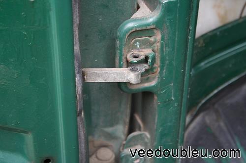Door pin removed